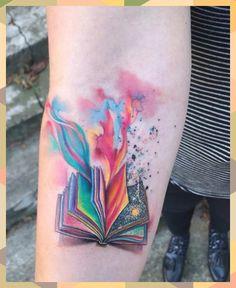 Watercolor Tattoo Sleeve, Small Watercolor Tattoo, Watercolor Books, Flower Watercolor, Abstract Watercolor, Tattoo Abstract, Tattoos Motive, Body Art Tattoos, Small Tattoos