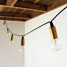Brass Socket String Lights