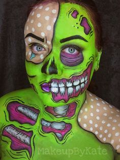 POP ART ZOMBIE   MAKEUP x FACE PAINTING x BODY PAINTING    INSTAGRAM : @katesulcova