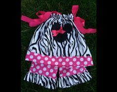 Minnie Mouse Zebra Pillow Case Dress W/ Pants 1st Birthday Minnie Easter Minnie Disneyland Minnie Birthday Party