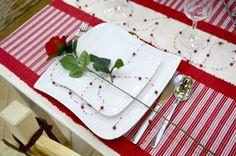 Canea Perełki dekoracyjne na żyłce silikonowej, czerwone