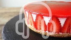 No-Bake Strawberry Cheese cake [ASMR Cooking sounds] Strawberry Desserts, Strawberry Cheesecake, Cheesecake Recipes, Dessert Recipes, Yummy Treats, Sweet Treats, Yummy Food, Yummy Yummy, Easy Sweets