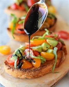19 Creatively Delicious Bruschetta Recipes: Avocado Bruschetta with Balsamic Reduction