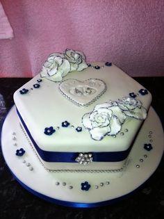 Damask 45th Wedding Anniversary Candy Tin