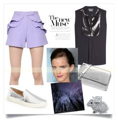 You know when you were little and your mom would dress you in little onesies with ruffles on the butt?  Well you can now relive that with these adorable shorts!  Reliving the Butt Ruffles by obsessive-fashionista on Polyvore featuring Emma Watson.