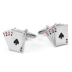 Poker Manchetknapper - 149,00kr