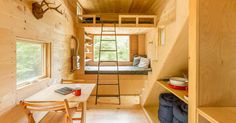 Disconnect and recharge in a tiny house in the woods