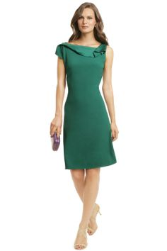 emerald is the color of 2013: mixing some green prints and solids would be a nice colorful option (a great one for nana) - Elie Tahari Angle Up Sheath