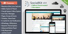 SocialKit - The Ultimate Social Networking Platform - https://codeholder.net/item/php-scripts/socialkit-social-networking-platform