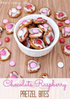 Chocolate Raspberry Pretzel Bites - Whats Cooking Love?