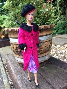 Crochet coat for Barbie