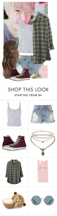 """""""Casual Date With Mark"""" by lizz-ek ❤ liked on Polyvore featuring Topshop, Frame, Converse, RVCA, Charlotte Russe, Forever 21 and Ray-Ban"""