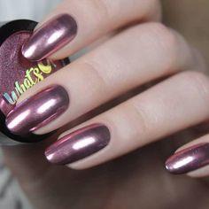 Rose Chrome Powder For Mirror Nails | Etsy Nail Polish Stickers, White Nail Polish, Polish Nails, Chrome Powder, Mirror Nails, Dipped Nails, Beautiful Nail Designs, Beautiful Toes, Chrome Nails