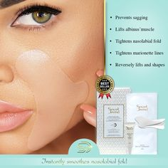 Use the effective patches for intense results against wrinkles on your face areas Marionette Lines, Nasolabial Folds, Patches, Skincare, Makeup, Make Up, Skin Care, Makeup Application, Skin Treatments