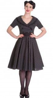Hell Bunny Mimi Dress in Black Blame Betty