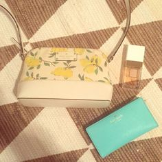 Kate Spade Mini Lemon Crossbody In great condition, and lightly used. Bought NWT tags on Posh and used it this summer. Approx 9 by 6 by 2.5. The perfect size for a wallet and a few essentials. kate spade Bags Crossbody Bags