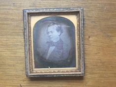 Daguerreotype of a Handsome Young Man - Victorian Plate Photo by DownADarkAlley on Etsy