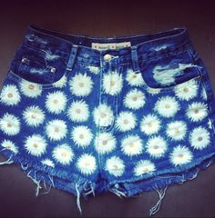 Daisy High-Waisted Denim Shorts