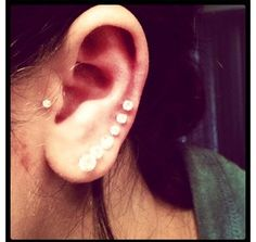 just small piercing to left.