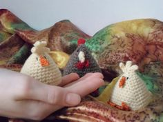 US crochet pattern for chicken and chick
