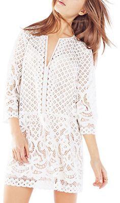 5d5a2dcc58a986 Bcbgmaxazria Laurice Floral Lace Tunic Dress  298  178.80