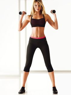 Love the VSX Sports Bra, and this whole workout outfit!