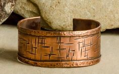 Evolution - Textured Recycled Copper Cuff