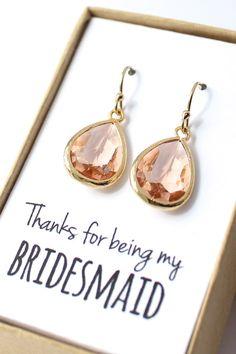 Beautiful bridesmaid earrings!