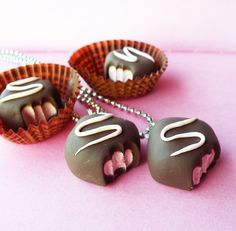 Strawberry+Truffle+Necklace++Chocolate+Truffle++by+BabyLovesPink,+$16.00