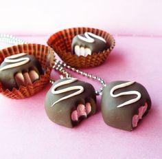 Strawberry Truffle Necklace
