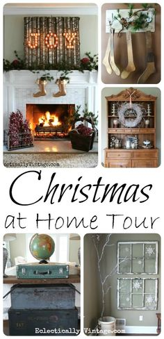 This is a gorgeous Christmas house tour - so many unique ideas! eclecticallyvintage.com