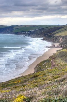 Whitsand Bay is located in south-east Cornwall, England, and is separated from Plymouth sound by the Rame Peninsula. Cornwall England, Devon And Cornwall, Plymouth England, Cornwall Beaches, St Just, South West Coast Path, England And Scotland, Landscape Pictures, English Countryside