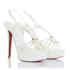 Christian Louboutin Discolilou 140mm Sandals White