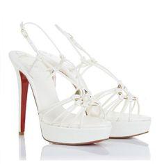 Christian Louboutin Discolilou 140mm Sandals White