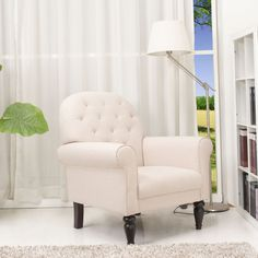 Gold Sparrow Oakland Beige Arm Chair - Overstock™ Shopping - Great Deals on Living Room Chairs