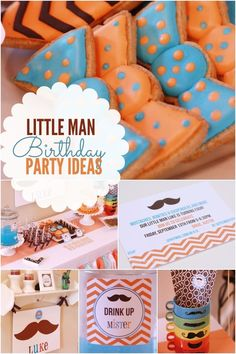 A Little Man 4th Birthday Party #birthday #party #partyideas #childrensparty