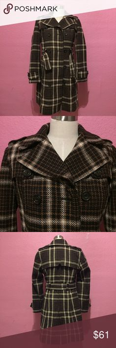 Plaid belted shortie winter trench coat Plaid belted shortie winter trench coat Zara Jackets & Coats