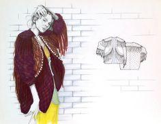 fashionable jacket fashion sketch