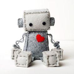 Felt Robot Plush Pattern PDF Instant Download DIY par GinnyPenny