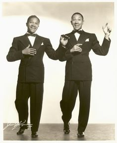 The Nicholas Brothers, late 1930s.  Photo by James J. Kriegsmann
