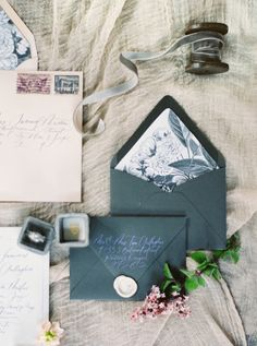 Wedding Stationery - A Romantic Gothic Bridal Inspiration Shoot