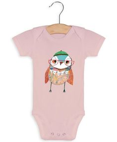 Baby Owl as Baby Grow by Ashley Percival | JUNIQE