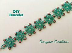 diy bracelets Schneeflocken Perlen Armband DIY, # Perlen - Schneeflocken Perlen Armband DIY, A - Seed Bead Tutorials, Diy Jewelry Tutorials, Beading Tutorials, Beading Patterns, Bracelet Patterns, Diy Jewelry Unique, Diy Jewelry To Sell, Diy Jewelry Making, Beaded Bracelets Tutorial
