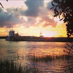 Sunset at the Coast Guard Base in Charleston