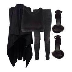 Gareth Pugh coat ($1455), T by Alexander Wang bra top ($105, on sale), R13 jeans ($655) and HeelBerry heels ($48) xx #Padgram