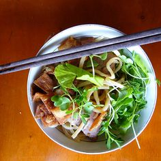 Cao Lau is the unique specialty of Hoi An. Few families know the secret recipe to make the noodles. Legends say that the noddles are made with the water from select wells and using the firewood in Hoi An #caolau #culture #hoian #vietnam #travel #vietnamesecuisine