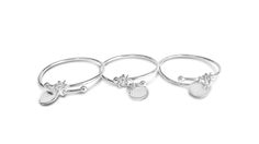Silver Bangle Bespoke Creations by Maree London. Perfect for Christening & Bridesmaids.