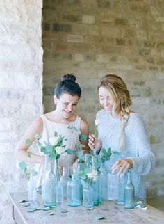 My friend, wedding planner, and bridesmaid helped with my flower arrangements.