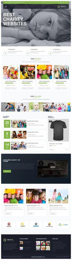HelpMe is A responsive non-profit #Charity, NGO, Fund-raising WordPress Theme #WrodPressTemplate