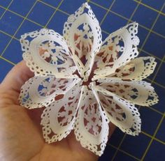 Paper Doily Crafts A simple idea for lining your envelopes - use a paper doily for a pretty surprise! Check out other ideas for using inexpensive heart doilies Paper Doily Crafts, Doilies Crafts, Paper Doilies, Paper Flowers Diy, Handmade Flowers, Flower Crafts, Diy Paper, Arts And Crafts, Diy Crafts